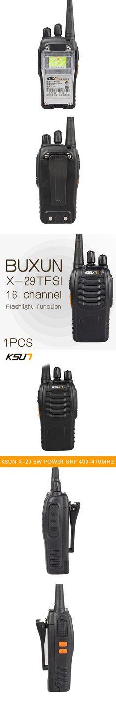 1 PCS BUXUN X-29TFSI Walkie Talkie 5W Handheld Pofung UHF 5W 400-470MHz 16CH Two way Portable CB Radio