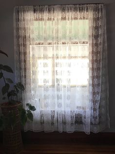 V I N T A G E Bohemian Lace Curtains Farmhouse Fresh