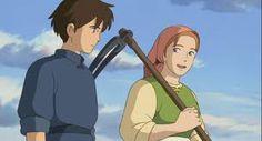 Tales From Earthsea-Tenar & Arren Tales From Earthsea, Isao Takahata, Studio Ghibli Movies, Hayao Miyazaki, Japanese, Anime, Image, Medieval, Gifs