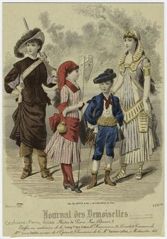 "[Children in costumes, ca. 1880s.] (1881) ""Fancy Dress"""