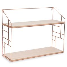 LULEA COPPER metal wall shelf, ...