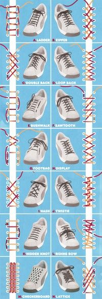Awesome ways to lace shoes!