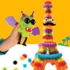 100PCS/lot DIY MAGICBALL Build Mega Pack Animals Children Early Education Building Blocks Brick GIFT KIDS Fidget Spinner TOY