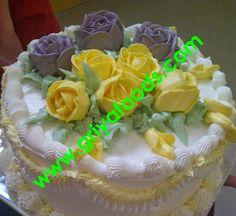 GriYa Foods: Cara Menghias dan Aneka Hiasan Kue Ulang Tahun dari butter cream Birday Cake, Hiasan, Slim Body, Birthday, Desserts, Food, Tailgate Desserts, Birthdays, Deserts