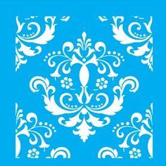 Stencil-para-Pintura-20X20cm-Arabesco-Flor-LSQ-046---Litocart