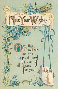 Happy New Year Greetings – Happy New Year Wishes Quotes Vintage Happy New Year, Happy New Year Images, Happy New Year Cards, Happy New Year Wishes, Happy New Year Greetings, New Year Greeting Cards, Happy New Year 2019, Vintage Greeting Cards, Vintage Christmas Cards