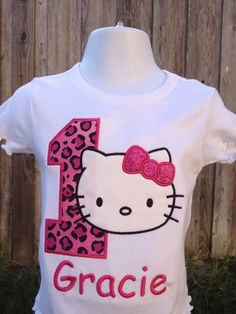 Hello Kitty Inspired Personalized Birthday Shirt By OurLilBowtique 2500