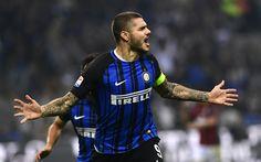 Download wallpapers Internazionale, Mauro Icardi, 4k, forward, Inter Milan, Seria A, footballers