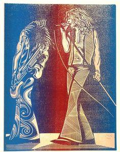 line art Jimmy Page & Robert Plant Led Zeppelin