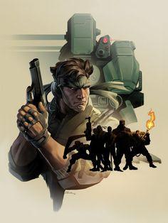— Metal Gear Artworks by Emilio Lopez Metal Gear Games, Snake Metal Gear, Metal Gear Solid Series, Cry Anime, Snake Art, Gear Art, Dungeons And Dragons Homebrew, Girls Anime, Cartoon Jokes