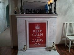 Just Transformed My Non Working Fireplace With An Art Print Love The Message