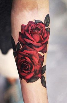 hyper-realistic rose tattoo © tattoo artist Joyce Wang Grit N Glory 🌹❤🌹. - hyper-realistic rose tattoo © tattoo artist Joyce Wang Grit N Glory 🌹❤🌹… – – - Rose Tattoo Forearm, Cool Forearm Tattoos, Body Art Tattoos, Sleeve Tattoos, Tattoo Hip, Tatoo Rose, Forearm Tattoos For Women, Rose Tattoo Stencil, Rose Tattoo On Back