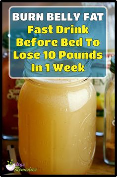 Here is a powerful burn belly fat Fast drink before bed to lose 10 pounds in 1 w. - Here is a powerful burn belly fat Fast drink before bed to lose 10 pounds in 1 week safely. Belly Fat Drinks, Belly Fat Diet, Burn Belly Fat Fast, Belly Belly, Flat Belly, Lose Belly, Detox Drink Before Bed, Drinks Before Bed, Fat Burning Smoothies