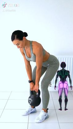 Kettlebell Workouts For Women, Leg Day Workouts, Fun Workouts, At Home Workouts, Mommy Workout, Butt Workout, Toned Legs Workout, Gym Workout Videos, Thigh Exercises