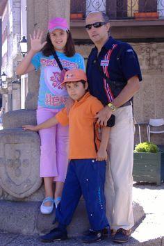 Pai e filhos, em Guimarães, 2007