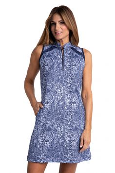 If you're in the market for some new outfits, consider our women's apparel! Shop this comfortable and stylish NIGHTFALL RAIN (Multi Skin) Bette & Court Ladies Viper Sleeveless Print Golf Dress from Lori's Golf Shoppe.