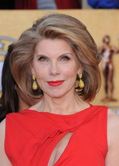 Perfect hair for a woman of her age. Christine Baranski