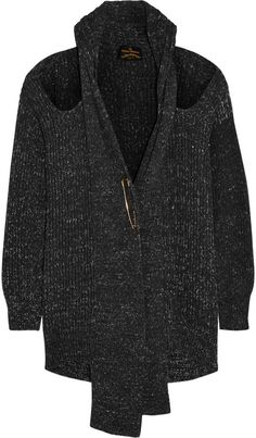 Vivienne Westwood Anglomania Cutout chunky-knit cotton cardigan ($317.25) // Thea queen