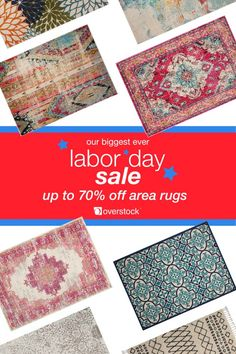 Raise the comfort level in your room with a new area rug. Overstock is home to a wide-selection of area rugs in every size, shape, and color. Shop our biggest ever Labor Day Sale and save up to 70% off today! Offer EXTENDED through 9/11.