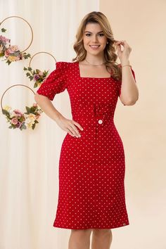 Stylish Dresses For Girls, Work Dresses For Women, Cute Dresses, Casual Dresses, Girls Dresses, Curvy Outfits, Dress Outfits, Fashion Dresses, Classy Dress