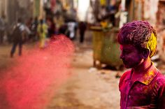 Holi is a religious spring festival celebrated by Hindus. Holi is also known as festival of Colours.