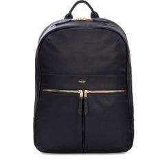 Buy the KNOMO London Mayfair Luxe Beaux Backpack at eBags - Travel in total comfort with your essentials stashed inside this ultra-chic leather backpack from KN Leather Laptop Backpack, Black Leather Backpack, Laptop Bags, Mayfair, Notebook Bag, Knomo London, Official Store, Backpacks, Handbags