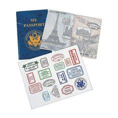 PART OF activity airship. My+Passport+Sticker+Books+-+OrientalTrading.com