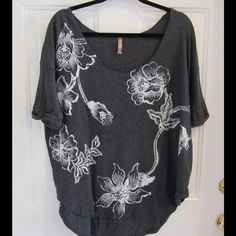 Free People Top Gray top- soft and comfy. Final reduction Free People Tops
