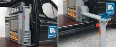 Allestimento furgoni con banchi basculanti