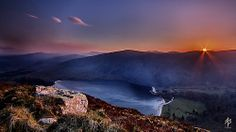 The sun sets over Lough Tay...  [Explored April 18th 2014] Roundwood, Wicklow, Irlande...photo taken 16/04/2014...Canon EOS 550D