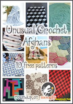 Interesting and Usual Crochet Afghan Patterns - roundup of free patterns on Moogly!
