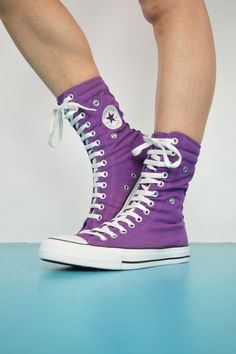 615b18562096 Vintage 90s Purple   Navy Converse X-Hi Hi-Tops Trainers Sneakers Chuck  Taylor All Star Canvas Grunge Label Size Womens UK 7 US 9 EU 40
