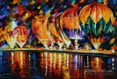 Leonid Afremov Balloon Park oil painting reproductions for sale