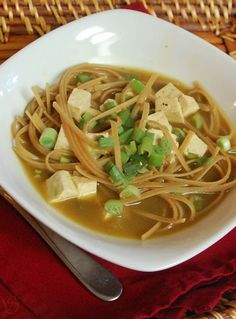 Get Well Tofu Noodle Soup! Great taste that will make you fell great! | michelles healthy bites