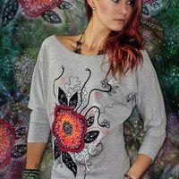 Prodané zboží uživatele LucLac   Fler.cz Painted Clothes, Graphic Sweatshirt, Art Prints, Sweatshirts, Sweaters, Painting, Fashion, Art Impressions, Moda