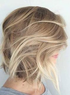 dark blonde to light blonde balayage bob - Google Search