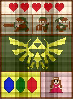Zelda Blanket 8-bit images design.