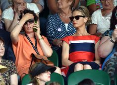 Then it all goes tits up! The dreaded phone call. Is it David? Chibnall? Her agent..The Plumber? OMFG! The tension... LONDON, ENGLAND - JULY 01: Olivia Colman and Emilia Fox attend the Nick Kyrgios v Rafael Nadal match on centre court during day eight of the Wimbledon Championships at Wimbledon on July 1, 2014 in London, England. (Photo by Karwai Tang/WireImage)