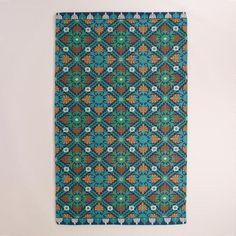 One of my favorite discoveries at WorldMarket.com: Blue Barcelona Tiles Indoor-Outdoor Rug