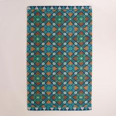 One of my favorite discoveries at WorldMarket.com: Blue Barcelona Tiles Indoor-Outdoor Rug