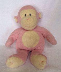 Ty Pink Monkey Plush Lovey Bean Bag Doll Toy Stuffed Animal Soft Baby | eBay