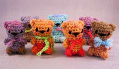 LucyRavenscar - Crochet Creatures: Mini Teddies - free amigurumi patterns!