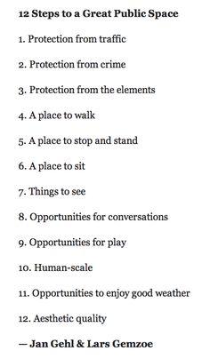 Tips for a good public space #culture #design