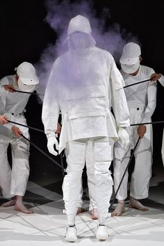 Conceptual designer and artist Aitor Throup made his debut on the LCM calendar this season, following a three-year absence after his last New Object Research ready-to-wear collection.