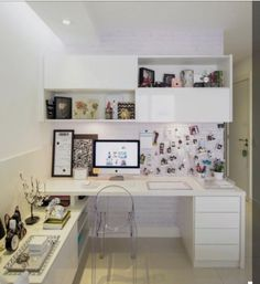 Home Office Space, Home Office Design, Home Office Decor, Home Decor, Sweet Home Design, Bedroom Decorating Tips, Study Room Decor, Dream Rooms, Small Rooms
