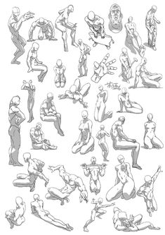 Action Pose Reference, Art Reference Poses, Action Poses, Drawing Body Poses, Drawing Exercises, Anatomy Sketches, Anatomy Drawing, Figure Sketching, Figure Drawing Reference