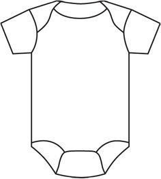 Resultado De Imagen De Baby Onesie Template For Baby Shower