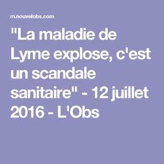 """""""La maladie de Lyme explose, c'est un scandale sanitaire"""" - 12 juillet 2016 - L'Obs"""