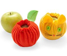 Make An Apple Cozy: It can be a bruising ride to school in a kid's lunch box. Protect fruit from dirt and dings with a fleece pouch.