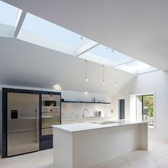 Slate House is an extension clad with hexagonal tiles Cosy Interior, Interior Design, Loft Design, House Design, Ultra Modern Homes, Contemporary Kitchen Design, Living Styles, House Extensions, Minimalist Kitchen